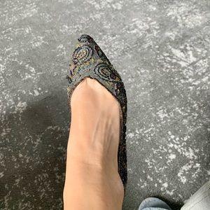 Vintage hand beaded heels size 7.5